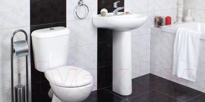 Унитаз напольный Керамин Гранд-С Алкапласт Premium (с жестким сиденьем)
