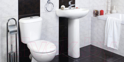 Унитаз напольный Керамин Гранд-С Алкапласт Premium (с полипропиленовым сиденьем)