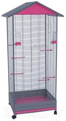 Клетка для птиц Voltrega 001430GF (серый/фиолетовый)