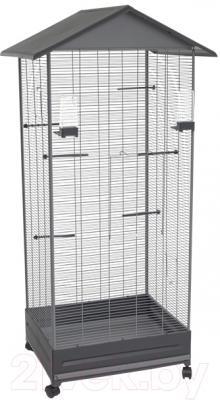 Клетка для птиц Voltrega 001430GG (серый/темно-серый)