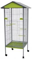 Клетка для птиц Voltrega 001440GP (серый/фисташковый) -