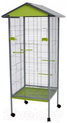 Клетка для птиц Voltrega 001440GP (серый/фисташковый)