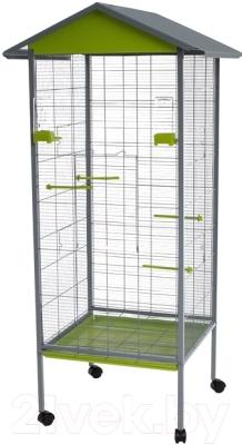 Клетка для птиц Voltrega 001445GP (серый/фисташковый)
