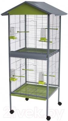 Клетка для птиц Voltrega 001446GP (серый/фисташковый)