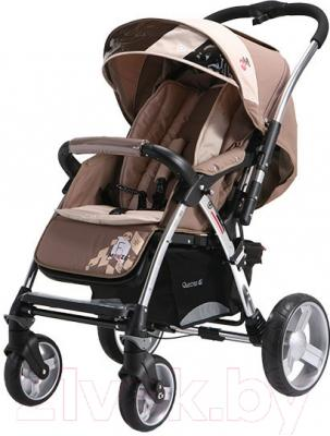 Детская прогулочная коляска Adamex Monza (бежевый)