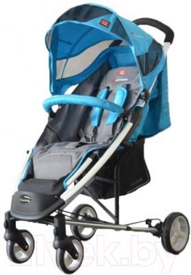 Детская прогулочная коляска Adamex Cross (синий)