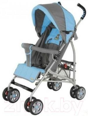 Детская прогулочная коляска Adamex Mini (серо-голубой)