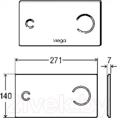 Кнопка для инсталляции Viega 622671 (серый) - схема
