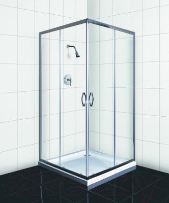 Душевой уголок Belezzo BR-4001 90x90 (хром/прозрачное стекло)