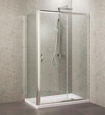Душевой уголок Belezzo BR-4008 120x80 (хром/прозрачное стекло)
