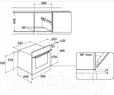 Электрический духовой шкаф Hotpoint FA2 530 H BL HA