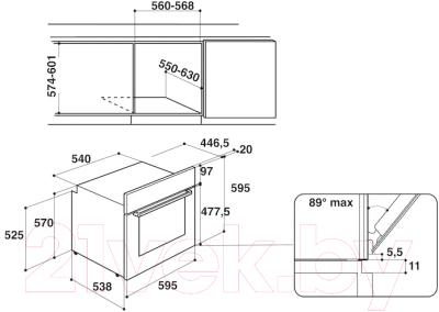 Электрический духовой шкаф Hotpoint FA2 540 H IX HA