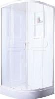 Душевая кабина Belezzo BR-4010 90x90 (белый/прозрачное стекло) -