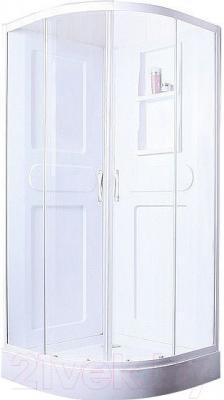 Душевая кабина Belezzo BR-4010 90x90 (белый/прозрачное стекло)