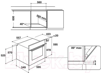 Электрический духовой шкаф Hotpoint FA2 544 JC IX HA