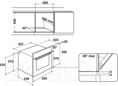 Электрический духовой шкаф Hotpoint FA2 844 JH IX HA
