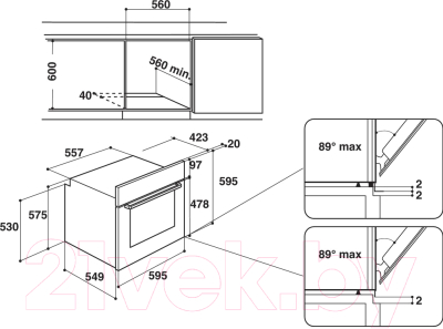 Электрический духовой шкаф Hotpoint FA3 230 H IX HA