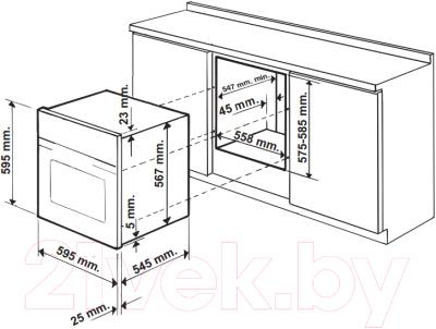 Электрический духовой шкаф Hotpoint FA3 230 H WH HA