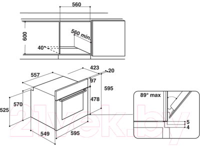 Электрический духовой шкаф Hotpoint FA3 841 H BL HA