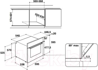 Электрический духовой шкаф Hotpoint 7O 5FA 841 JH IX HA