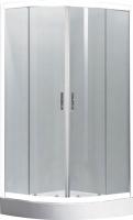Душевой уголок Belezzo BR-4002 80x80 (белый/рифленое стекло) -