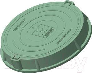 Люк канализационный Сандкор Тип Л 30кН (зеленый)