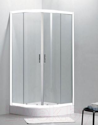 Душевой уголок Belezzo BR-4002 90x90 (белый/рифленое стекло)