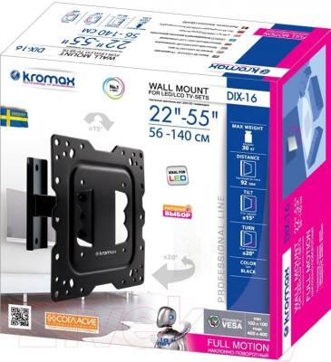 Кронштейн для телевизора Kromax Dix-16 (черный)