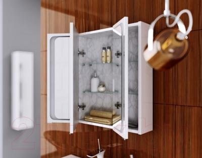 Шкаф с зеркалом для ванной Aqwella Милан (Mil.04.10)