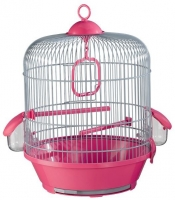 Клетка для птиц Voltrega 001716GF (серый/фуксия) -