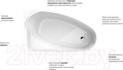 Ванна акриловая Kolo Mystery 150x95 R / XWA3750000 (с ножками) - преимущества