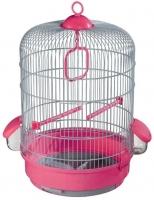 Клетка для птиц Voltrega 001736GF (серый/фуксия) -