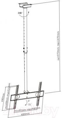 Кронштейн для телевизора SoftLine PLB-CE344