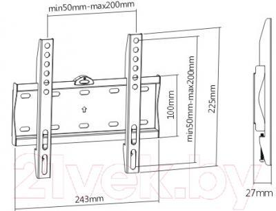 Кронштейн для телевизора SoftLine KL21G-22F