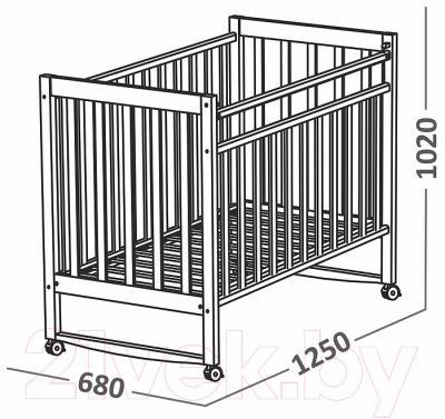 Детская кроватка СКВ 150111 (Митенька, белый)