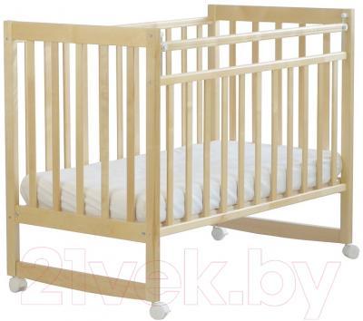 Детская кроватка СКВ 150115 (Митенька, береза)