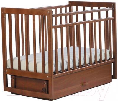 Детская кроватка СКВ 152007 (Митенька, орех)