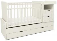 Детская кроватка СКВ 550031 (жираф, белый) -