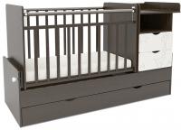 Детская кроватка СКВ 550038-1 (жираф, венге/белый) -