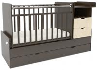 Детская кроватка СКВ 550038-9 (жираф, венге/бежевый) -