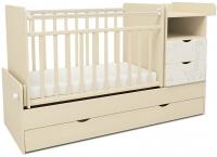 Детская кроватка СКВ 550039-1 (жираф, бежевый/белый) -