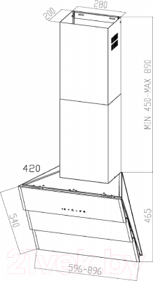 Вытяжка декоративная Zigmund & Shtain K 219.61 V