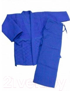 Кимоно для дзюдо NoBrand JUDO-1-SI 140 (синий)