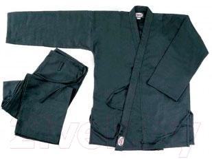 Кимоно для карате NoBrand KAR-BLACK-3 160 (черный)