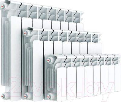 Радиатор биметаллический Rifar Base 350 (14 секций) - реальный вид товара может отличаться от представленного