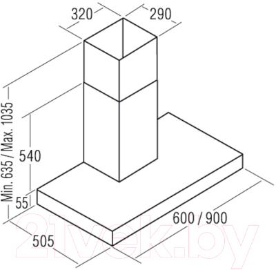 Вытяжка Т-образная Exiteq Sibox (60, нержавеющая сталь)