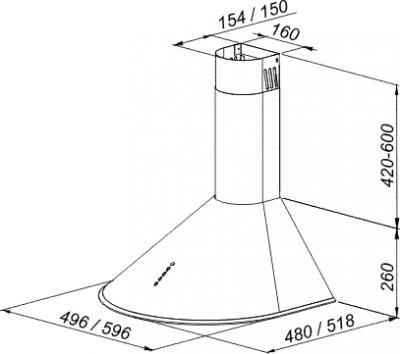 Вытяжка купольная MAAN Mini (60, нержавеющая сталь) - общий вид