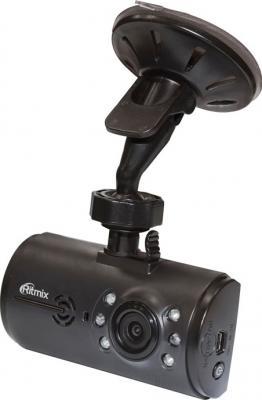 Автомобильный видеорегистратор Ritmix AVR-420 - общий вид с креплением