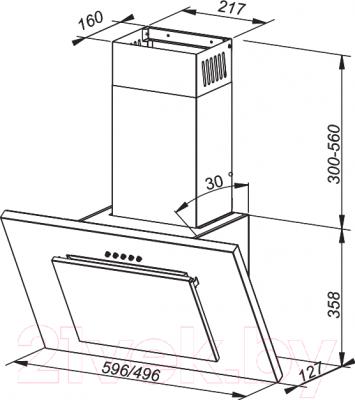 Вытяжка декоративная MAAN Vertical G (60, белый)