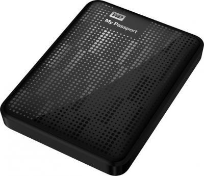 Внешний жесткий диск Western Digital My Passport 1TB Black (WDBEMM0010BBK-EEUE) - общий вид